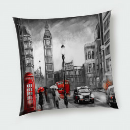 Декоративна възглавница с цип - Лондон