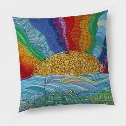 Декоративна възглавница с цип - Слънце