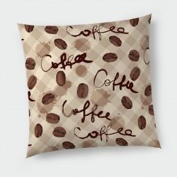 Декоративна възглавница с цип - Кафе