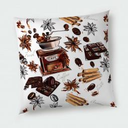 Декоративна възглавница с цип - Кафе и ванилия