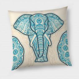 Декоративна възглавница с цип - Азиатски слон