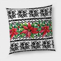 Декоративна възглавница с цип - Коледна звезда