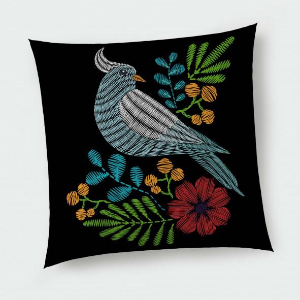 Декоративна възглавница с цип - Гълъб