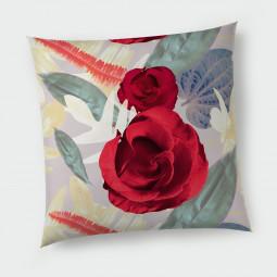 Декоративна възглавница с цип - Цветя