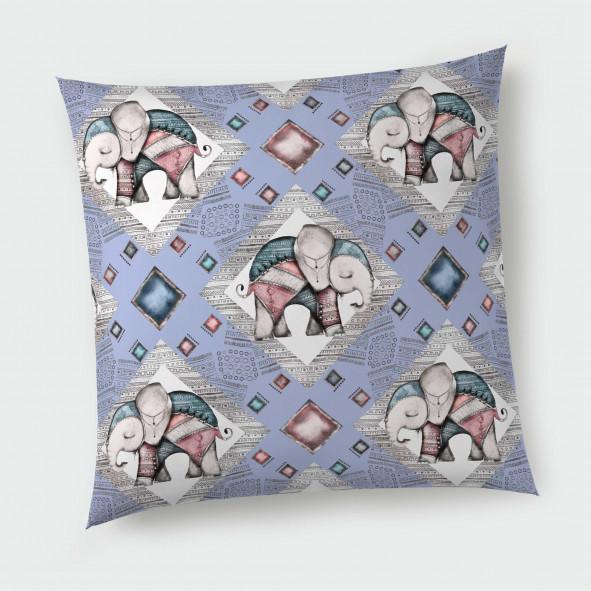 Декоративна възглавница с цип - Сладко слонче