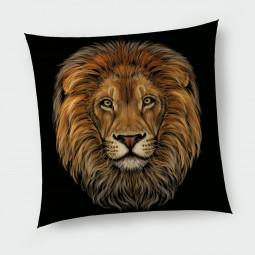 Декоративна възглавница с цип - Лъв