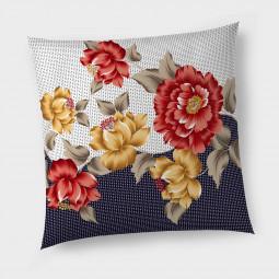 Декоративна възглавница с цип - Цветя и текстури