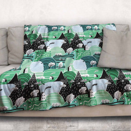 Одеяло - Горски къщички