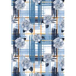 Одеяло - Сини рози