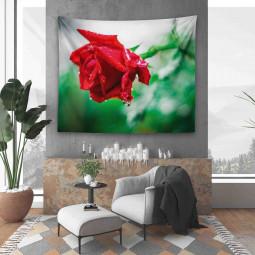 Текстилно Пано за Стена - Червена роза