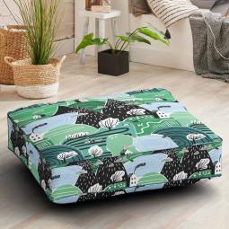 Възглавница за под - Горски къщички