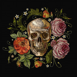 Възглавница за под - Рози и мрак