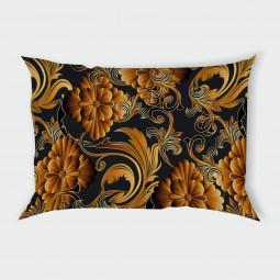 Декоративна калъфка - 3D цветя в оранжево
