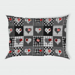 Декоративна калъфка - Черно-бели Сърчица