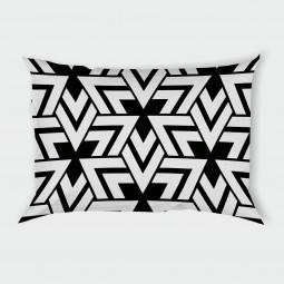 Декоративна калъфка - Триъгълници в черно и бяло