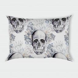 Декоративна калъфка - Готически черепи