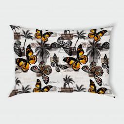 Декоративна калъфка - Пеперуди и палми