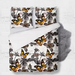 К-т плик с 2бр. калъфки - Пеперуди и палми