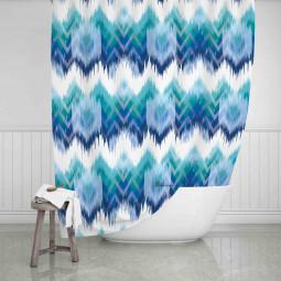 Завеса за баня - Синьо и зелено