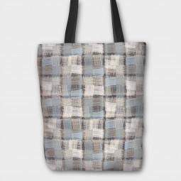 Текстилна торбичка - Ленени текстури