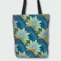 Текстилна торбичка - Арт цветя