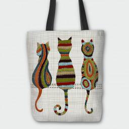 Текстилна торбичка - Цветни котета