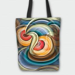 Текстилна торбичка - Огън и лед