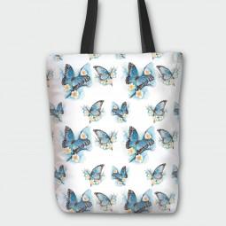 Текстилна торбичка - Пеперуди