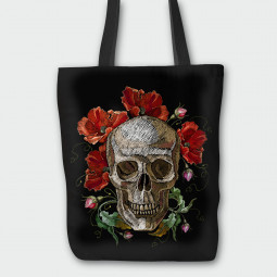 Текстилна торбичка - Макове