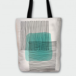 Текстилна торбичка - Абстракция