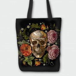 Текстилна торбичка - Рози и мрак