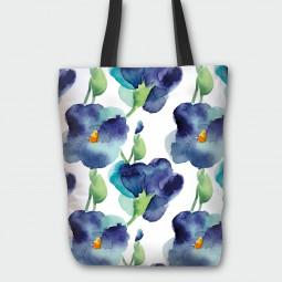 Текстилна торбичка - Минзухари