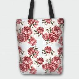Текстилна торбичка - Червени рози