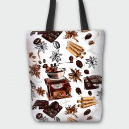 Текстилна торбичка - Кафе и ванилия