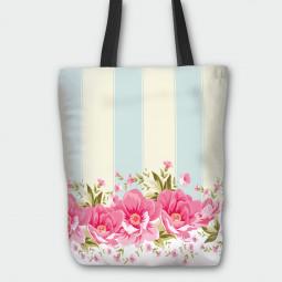 Текстилна торбичка - Божури