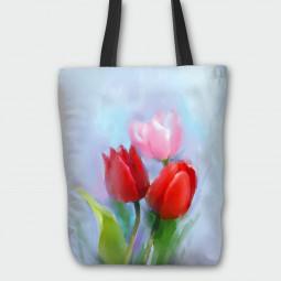 Текстилна торбичка - Лалета