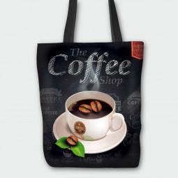 Текстилна торбичка - Горещо кафе