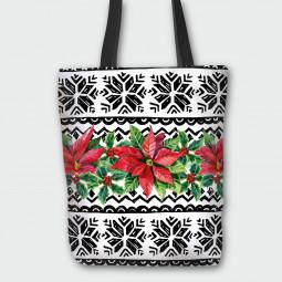 Текстилна торбичка - Коледна звезда