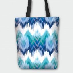 Текстилна торбичка - Синьо и зелено