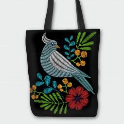 Текстилна торбичка - Гълъб
