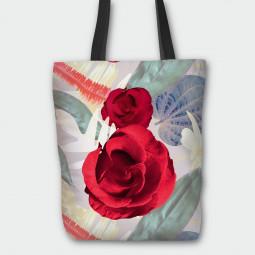 Текстилна торбичка - Цветя