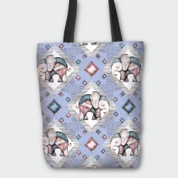 Текстилна торбичка - Сладко слонче