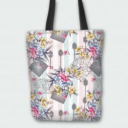 Текстилна торбичка - Модна композиция
