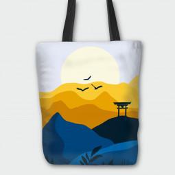 Текстилна торбичка - Японски изгрев