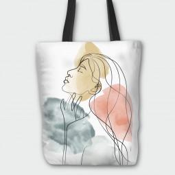 Текстилна торбичка - Жена