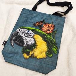 Текстилна торбичка - Папагал