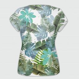 Дамска тениска с къс ръкав - Цветен слон