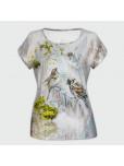 Дамска тениска с къс ръкав - Птици