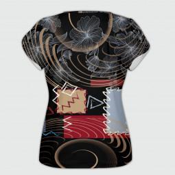Дамска тениска с къс ръкав - Абстракции