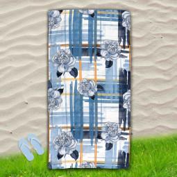 Постелка за Плаж - Сини рози